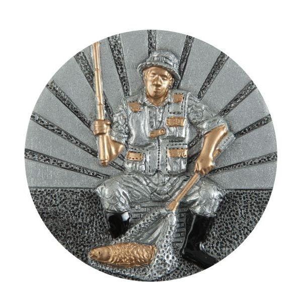 Emblemat wędkarz 70 mm