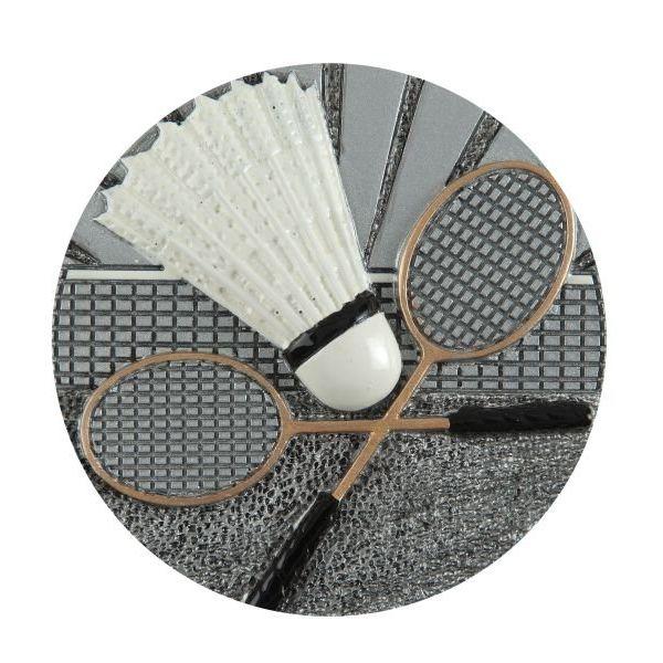 Emblemat badminton 70 mm