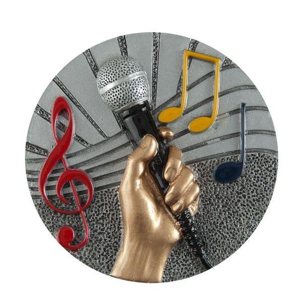 Emblemat muzyka/mikrofon 70 mm