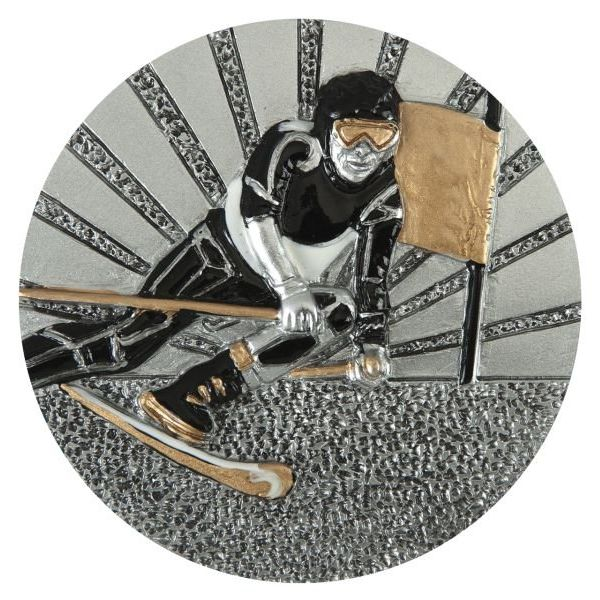 Emblemat narciarz 70 mm